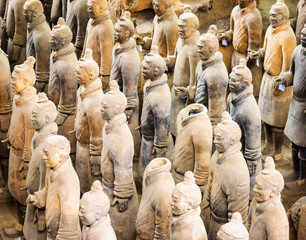 Türaufkleber Xian View of the Terracotta Warriors, Xi'an, Shaanxi Province, China