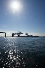 東京ゲートブリッジと太陽