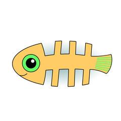 Funny fish-skeleton