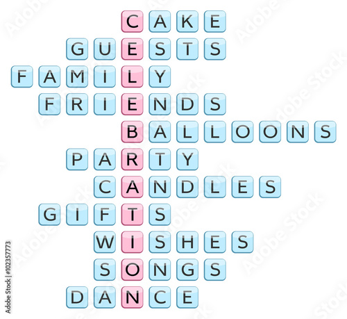 Crossword for the word celebration and related words cake guests crossword for the word celebration and related words cake guests family friends publicscrutiny Choice Image