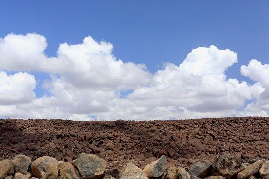 Cumulus clouds over Awash river valley. Afar region-Ethiopia. 0123