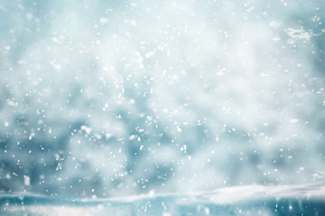 Snowing weather in winter