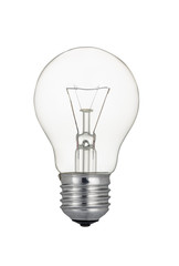 Traditional light bulb isolated on white