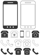 Different phone icons set