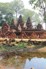 Banteay Srey Temple at Angkor, Siem Reap Province ,Cambodia