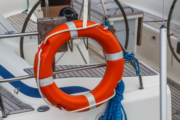 life buoy on boat
