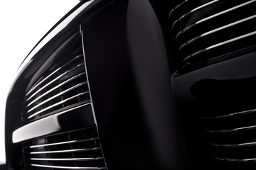 Close up of a grille of a big powerful American SUV truck