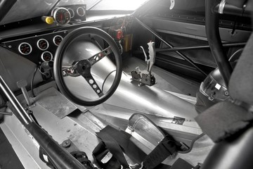 Cocpit of a 1/4 mile dragster racing car