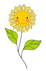 Beautiful smiling flower, Floral Design Element