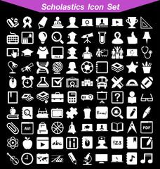 Scholastics icon set