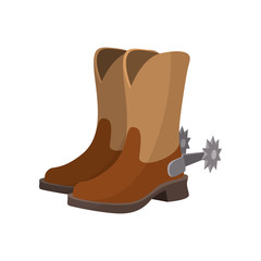 Cowboy boot cartoon icon