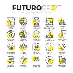 Business Services Futuro Spot Icons