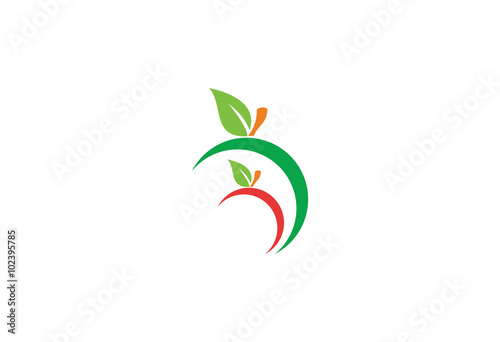 """""""abstract apple vector logo"""" Stock image and royalty-free ..."""
