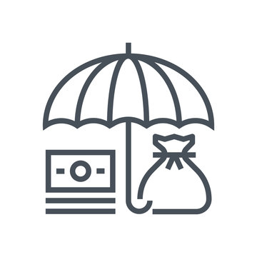 Umbrella, insurance icon