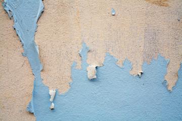 Peeling painted background.