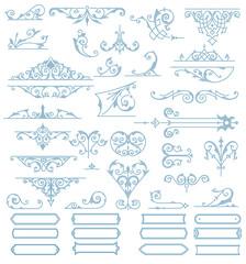 Baroque Ornaments Design Set. Vector