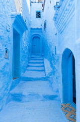 Medina of Chefchaouen, Morocco. Chefchaouen is a medioeval city