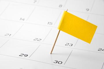 Flag the event day or deadline on calendar 2016