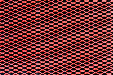 Decorative radiator cap. Red. Abstract mesh. Grille.