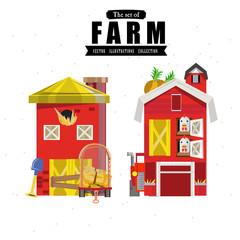 farm house in variou style - vector