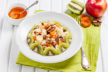 Pilaf/Rice porridge with fruit