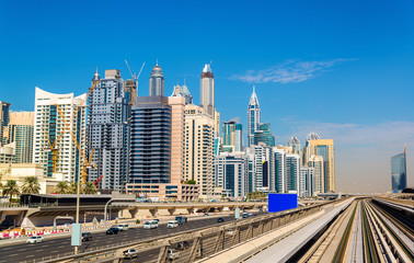 View of Jumeirah district in Dubai, UAE