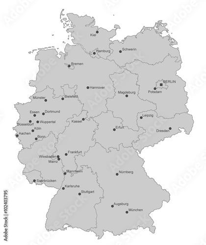 Deutschland Karte Städte.Karte Von Deutschland Städte Einzeln Stockfotos Und Lizenzfreie