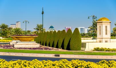 Garden near Zabeel Palace in Dubai, UAE
