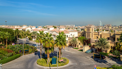 Houses on Jumeirah Palm island in Dubai, UAE