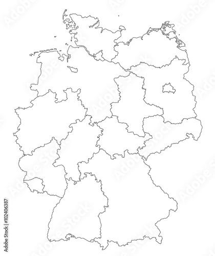 Karte Von Deutschland In Grenzen Stock Image And Royalty Free