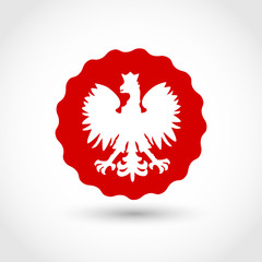 Badge with Polish Eagle vector