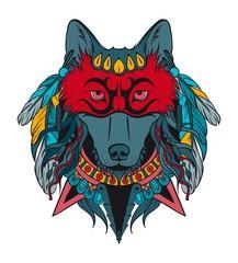 Indian warrior wolf