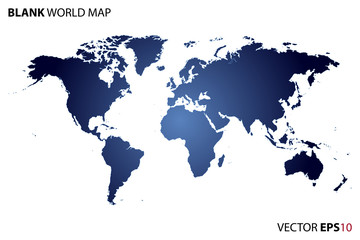 Vector Blank World Map