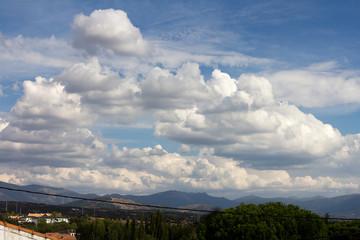 Big white clouds in the sky