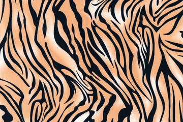 texture of print fabric striped tiger and zebra