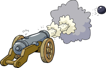 Cartoon artillery cannon