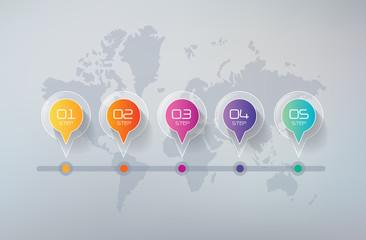 Five Steps Infographics, Business Success