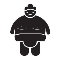 Sumo wrestling People Icon Illustration design