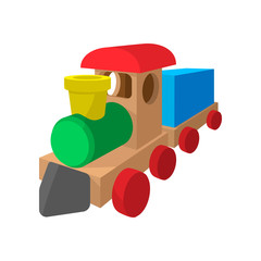 Children train cartoon icon