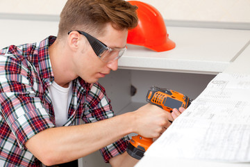 young handyman