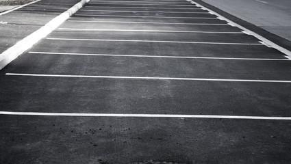 Drawn parking lot
