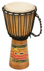 African Djembe Drum Isolated Over White Background