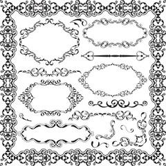 The ornament baroque graphic art set