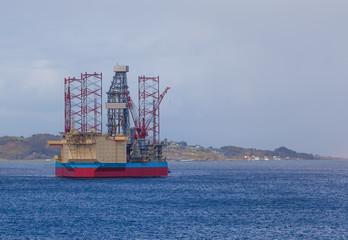 Oil rig in north sea