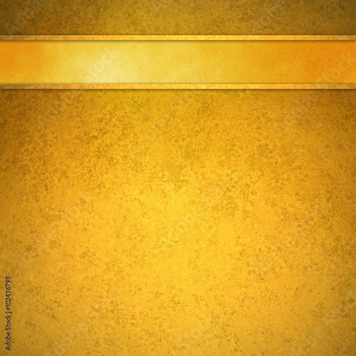 elegant gold background with gold ribbon header bar and gold trim