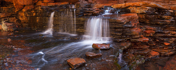 Small waterfall in the Hancock Gorge, Karijini NP, Australia