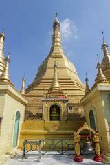 Buddhist Pagoda Shrine in Myanmar