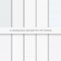 Set of simple vector geometry patterns.