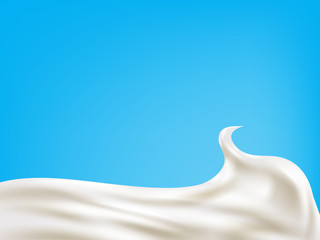 Milk wave background