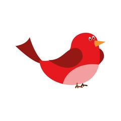Cute cartoon bird vector illustration